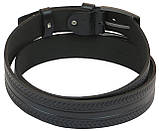 Кожаный ремень Skipper 110-130 x 3.8 см Черный (1004-38), фото 4