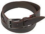 Кожаный ремень Skipper 110-130 x 3.8 см Коричневый (1114-38), фото 3