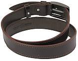 Кожаный ремень Skipper 110-130 x 3.8 см Коричневый (1114-38), фото 4