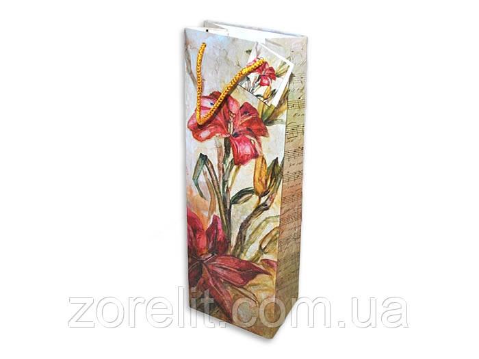 Пакет для бутылки лилии