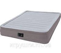 Надувная кровать- матрас Intex 67770 , встроенный электронасос. Двухспальная 152 х 203 х 32