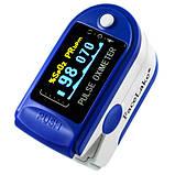 Пульсоксиметр Fingertip CMS50D Цветной OLED дисплей Синий (tdx0001083), фото 2