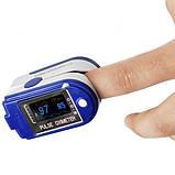Пульсоксиметр Fingertip CMS50D Цветной OLED дисплей Синий (tdx0001083), фото 5