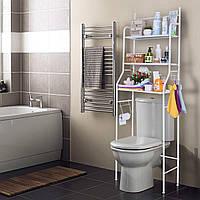 Стеллаж над унитазом органайзер для ванной комнаты полка напольная