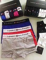 Набор мужских боксеров Tommy Hilfiger 5 шт в подарочной упаковке Боксеры трусы шорты томми хилфигер
