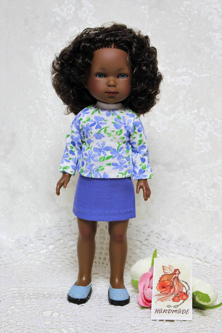 Комплект одежды  для куклы ростом 28 см, ручная работа