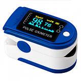 Пульсоксиметр CONTEC CMS50D Pulse Oximeter Синий (окси50д), фото 3