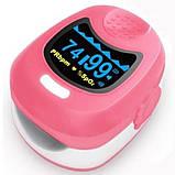 Пульсоксиметр CMS50QА двухцветный OLED дисплей для детей, CONTEC Розовый (FL000090), фото 2