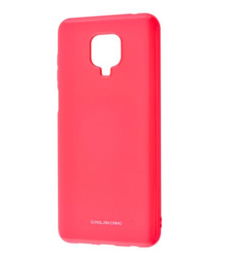 Силиконовый чехол MOLAN CANO Glossy Jelly Case для Xiaomi Redmi Note 9 marsala