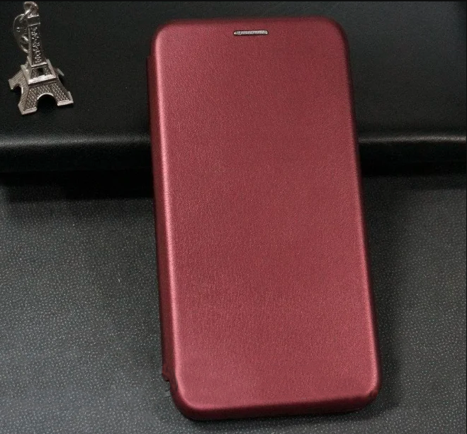Чехол-книжка Level for Xiaomi Redmi Note 9 Marsala
