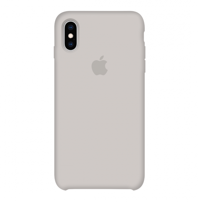 Silicone Case Full for iPhone X/XS (10) stone
