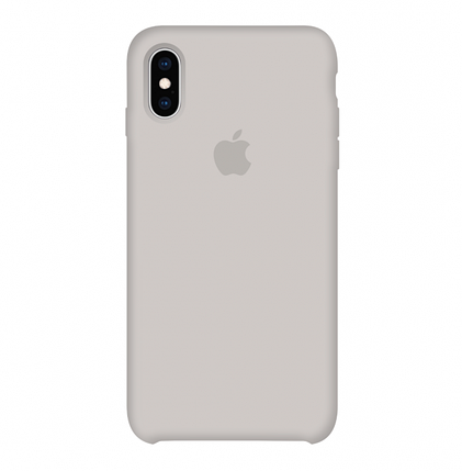 Silicone Case Full for iPhone X/XS (10) stone, фото 2
