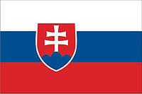Флаг Словакии 14х25 см, атлас