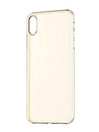 Чехол BASEUS Simplicity Series (basic model) For iPhone XS Transparent Gold, фото 2