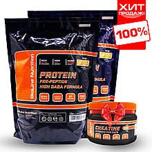 Протеїн для росту м'язів BL Nutrition Whey Protein + Креатин в подарунок комплекс 4 кг.