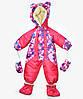Детский зимний комбинезон (розовый цветок)