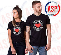 Парные футболки для пары влюбленных на 14 февраля Valentines day I Love you под заказ за 1 день