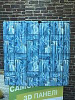 3D панель самоклеюча Шпалери під декоративний бамбук Самоклейка 3Д фіолетовий