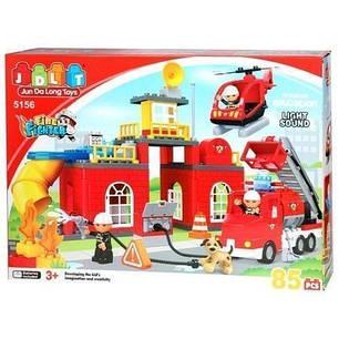 Конструктор JDLT 5156 пожарная станция, 85 деталей, фото 2