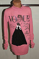 Туника на девочку розовая трикотажная  рост 152 Турция.