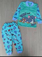 Піжамка для хлопчиків і дівчаток з начосом Том і Джері на ріст : 86-92,98-104,110-116,122-128,134-14