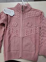 Светр для дівчаток вязаний на вік :5-6,7-8 років