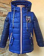 Весняні курточки-жилетки для хлопчиків на ріст:92,98,104,110 см