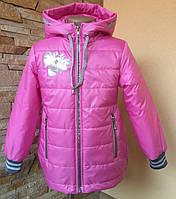 Весняні курточки для дівчаток на флісі ріст:92 см повномірки