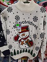 Свитер для хлопчиків  сніговик на вік 6-7,7-8,8-9 років