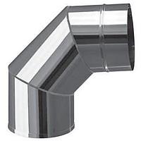 Коліно 90* ф 130 одностінне із оцинкованої сталі