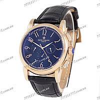 Часы мужские наручные Patek Philippe Geneve Mechanic Black/Gold/Black