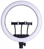 Кольцевая LED лампа 45см с пультом ДУ 3 держателя RING FILL LIGHT SLP-G500