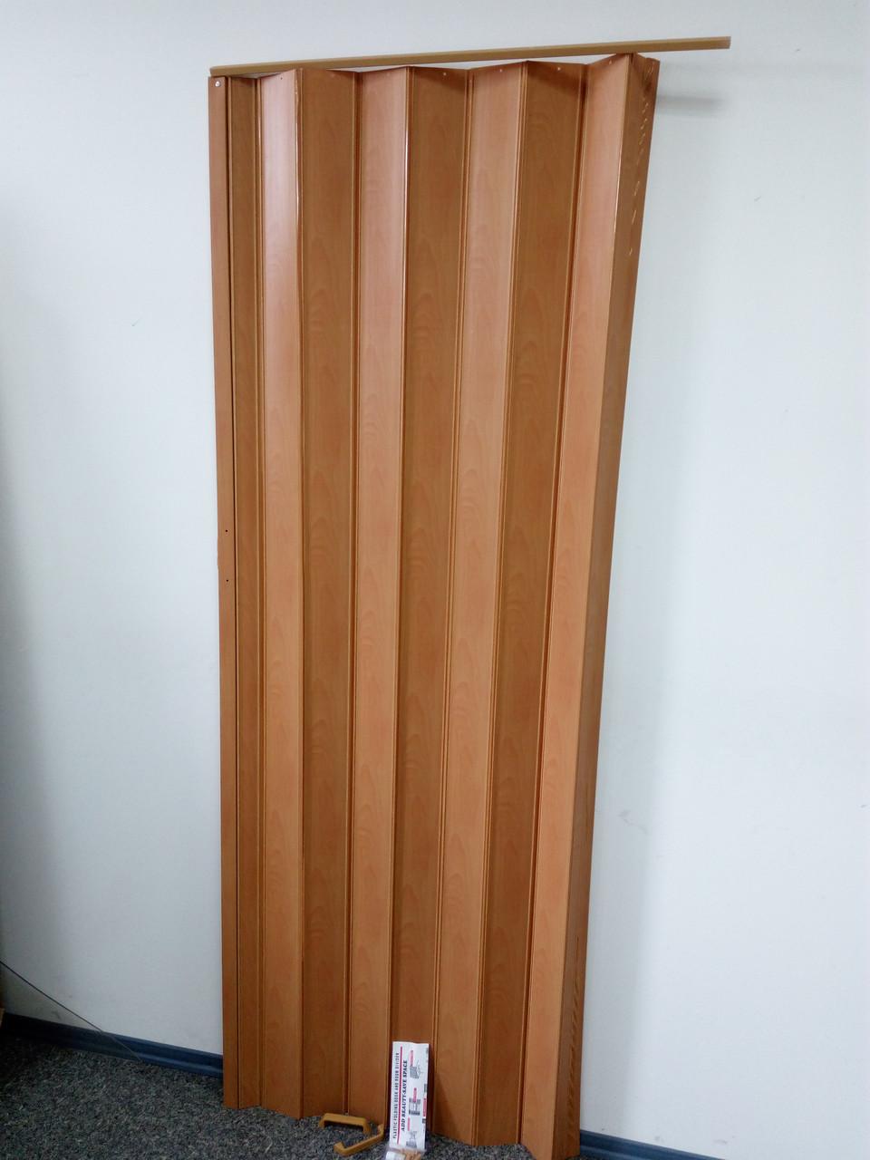 Складна гармошка-ширма 501вишня розсувні міжкімнатні пластикові глухі 810х2030х0,6 мм