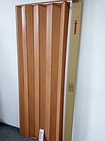 Складна гармошка-ширма 501вишня розсувні міжкімнатні пластикові глухі 810х2030х0,6 мм, фото 4