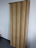 Двери раздвижные межкомнатные 803 бук глухие гармошка 810х2030х6 мм, фото 2