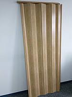 Двери раздвижные межкомнатные 803 бук глухие гармошка 810х2030х6 мм, фото 3