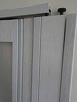 Двері гармошка розсувна підлозі засклена 1-білий ясен ,860х2030х12мм, фото 5