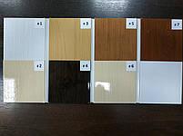 Двері гармошка розсувна підлозі засклена 1-білий ясен ,860х2030х12мм, фото 6