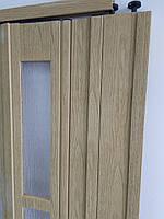 Двері гармошка полуостекленная, фото 4