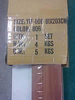 Дверь гармошка межкомнатная пластиковая глухая вишня 806, 810*2030*6мм, фото 3