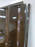 Двері гармошка глуха дуб темний №4 розсувна пластиковая1000*2030*6 мм, фото 3