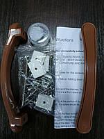 Двері гармошка глуха дуб темний №4 розсувна пластиковая1000*2030*6 мм, фото 5