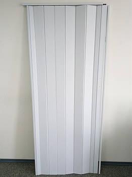 Двері складна гармошка 822 біла 880*2030*10 мм