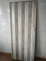 Дверь гармошка глухая дуб беленый 907 81*203*0,6 см раздвижная, фото 2