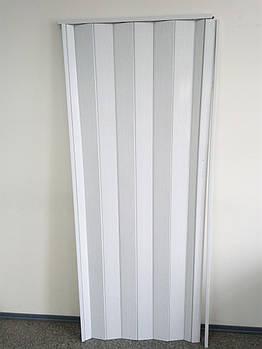 Двері складна гармошка 610 білий ясен 880*2030*10 мм еліт