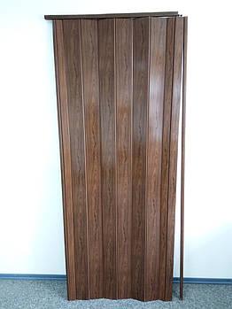 Двері складна гармошка 7036 дуб темний 880*2030*10 мм еліт