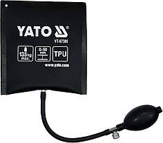 Подушка монтажна, надувна YATO для навантаження - 135 кг, висоти 2-50 мм, габарити - 150 х 160 мм YT-67380