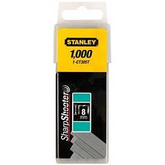 """Скобы для крепления кабеля STANLEY """"FLAT NARROW CROWN"""" 8 мм 1000 шт 1-CT305T"""
