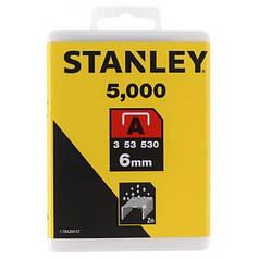 "Скобы для степлера STANLEY ""Light Duty"" ""А"" 6 мм 5000 шт 1-TRA204-5T"