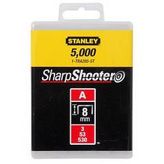 "Скобы для степлера STANLEY ""Light Duty"" ""А"" 8 мм 5000 шт 1-TRA205-5T"